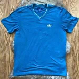 Adidas Trefoil Blue T-shirt Size Medium